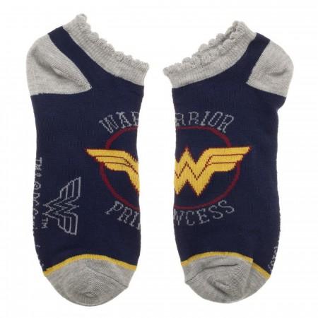 DC Comics Wonder Woman 3 Pair Ankle Socks