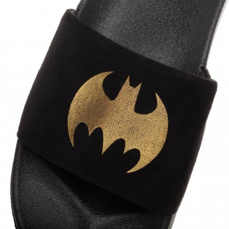 Batman Vegan Suede Slide Sandals