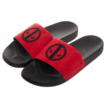 Deadpool Vegan Suede Slide Sandals
