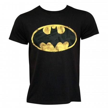 Batman Classic Logo 30 Single Super Soft Black T-Shirt