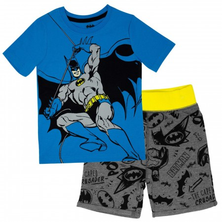 Batman Swinging Toddler Short Set
