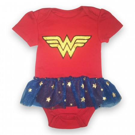 Wonder Woman Tutu Infant Bodysuit
