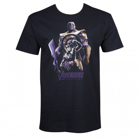 Thanos Vs. Captain America Avengers Endgame Men's T-Shirt