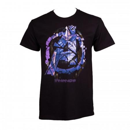 Thanos Fractured A Logo Avengers Endgame Men's T-Shirt