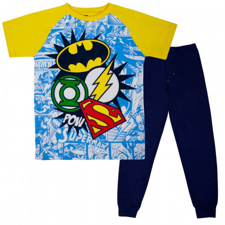 Justice League Symbols Kids Jogger Set