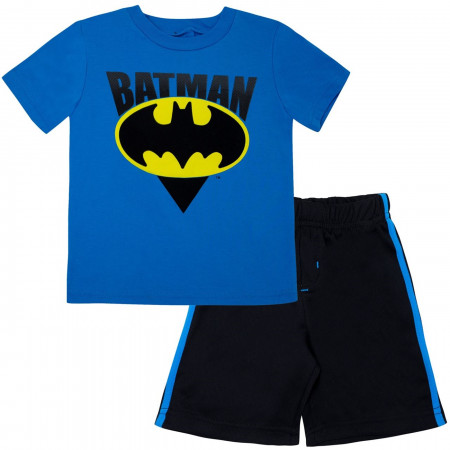 Batman Mesh Toddler Short Set