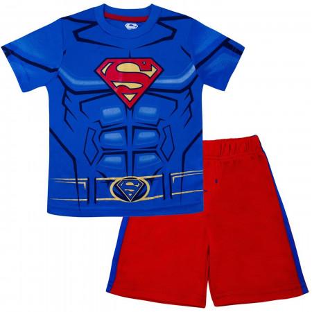 Superman Performance Costume Kids Short Set