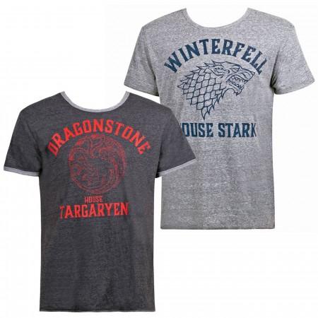 Stark/Targaryen Reversible Game of Thrones Men's T-Shirt