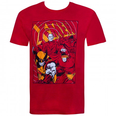 X-men Group Short Red Men's T-Shirt