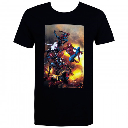 Spider-Man Spider-Verse Black Men's T-Shirt