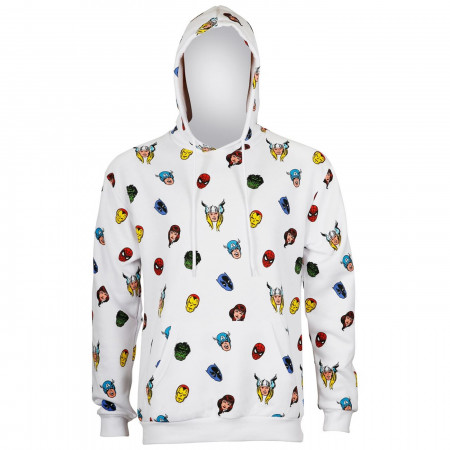 Marvel Avengers Heads All Over Print Men's Hoodie