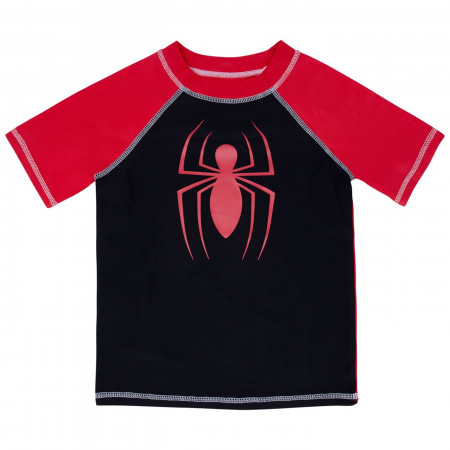 Spider-Man Kids Rash Guard Swimwear