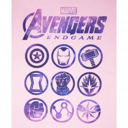 Avenger Endgame Logos Pink Women's T-Shirt