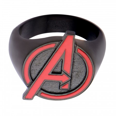 Avengers Red A Symbol Ring