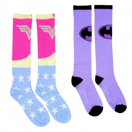 Justice League 2-Pack Knee High Kids Socks