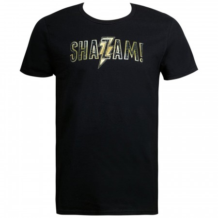 Shazam Movie Text Logo Men's T-Shirt