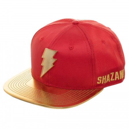 Shazam Movie Logo Yellow Brim Hat