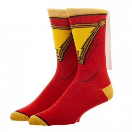 Shazam Movie Caped Costume Socks