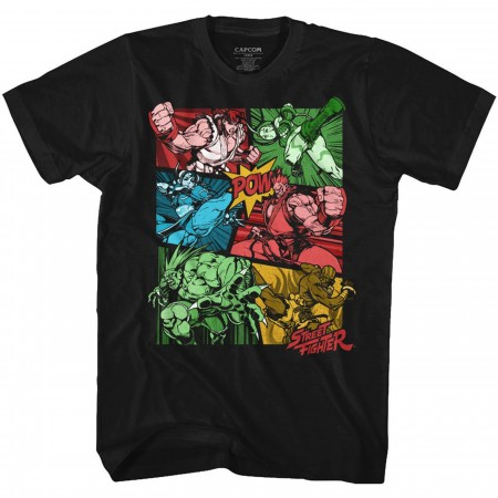 Street Fighter Comic Panels T-Shirt