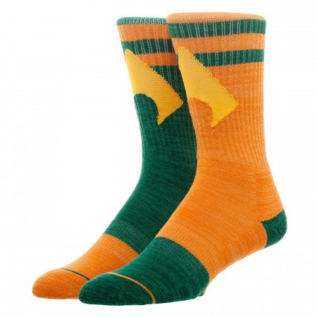 Aquaman DC Comics Flipped Colors Crew Socks