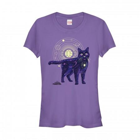 Captain Marvel Celestial Goose Cat Women's T-Shirt