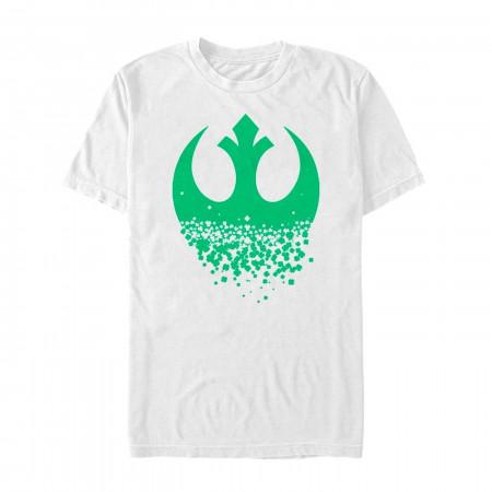 Star Wars Rebel Clover St Patrick's Day White T-Shirt