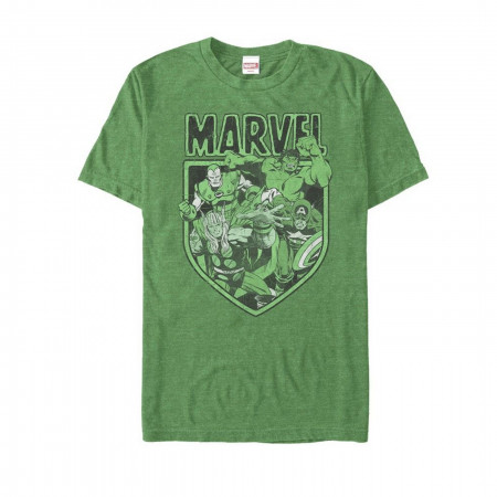 Marvel Hero Group St Patrick's Day T-Shirt