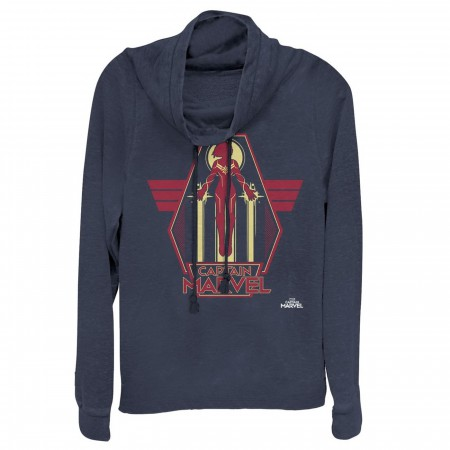 Captain Marvel Retro Take Flight Women's Cowl Neck Fleece