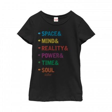 Avengers: Infinity Stones Girl's T-Shirt