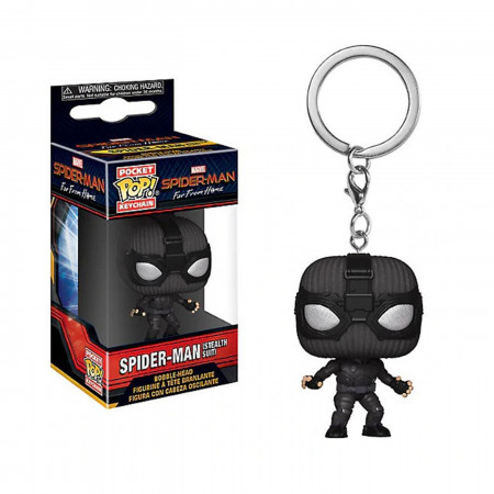Pop! Keychain: Spider-Man: Far From Home - Spider-Man (Stealth Suit)