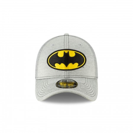 Batman Classic Logo Grey New Era 39Thirty Fitted Hat