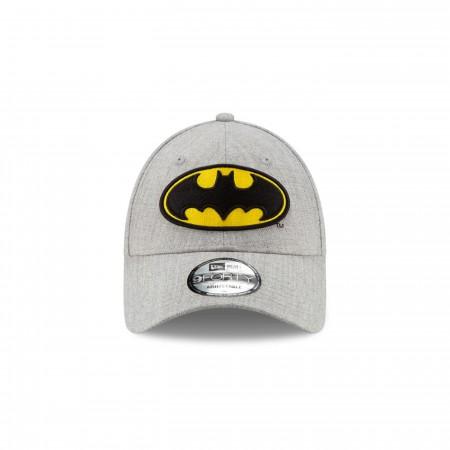 Batman Classic Logo Grey New Era 9Forty Adjustable Hat