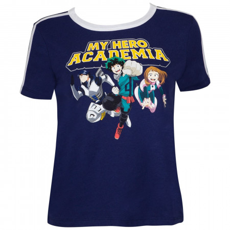 My Hero Academia Striped Sleeve Ringer T-Shirt