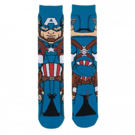 Captain America 360 Character Crew Sock