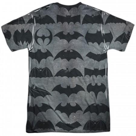 Batman 75 Years of Symbols Sublimated Men's T-Shirt