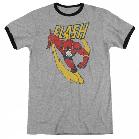 The Flash Lightning Trail Men's Ringer T-Shirt