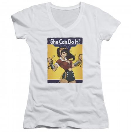 Wonder Woman Bombshell Women's V-neck Shirt