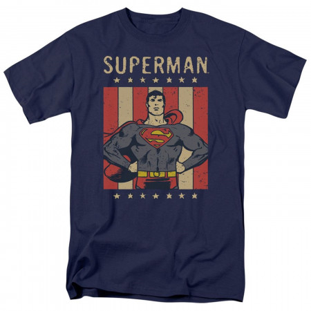Superman Retro Liberty Men's T-Shirt