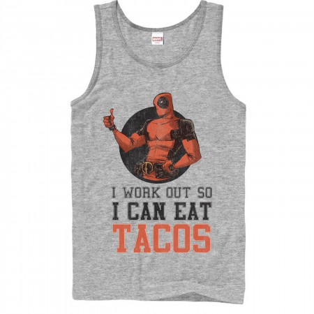 Deadpool Work Out Eat Tacos Tank Top