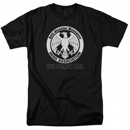 One Punch Man Hero Association Logo Black Men's T-Shirt