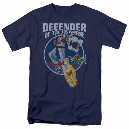 Voltron Defender of the Universe Navy Blue Men's T-Shirt