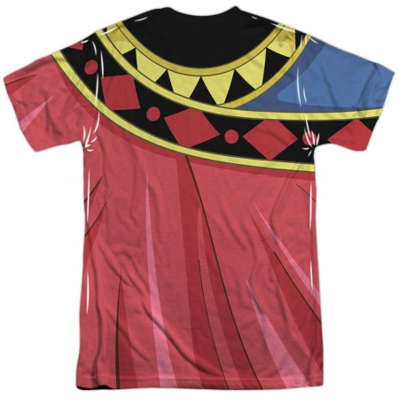 Voltron Zarkon Costume Sublimated Front and Back T-Shirt