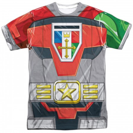 Voltron Costume Sublimated Front and Back T-Shirt