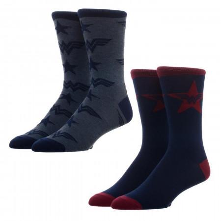 DC Comics WonderWoman 2 Pack Crew Socks