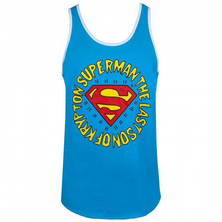Superman Last Son of Krypton Ringer Men's Tank Top