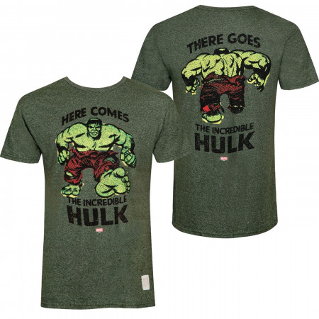 Incredible Hulk Hi & Bye Front and Back Print Retro Brand Vintage T-Shirt