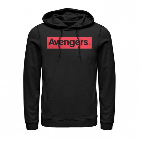 Avengers Text in Red Hoodie