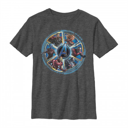 Avengers Endgame Heroes Circle Youth T-Shirt