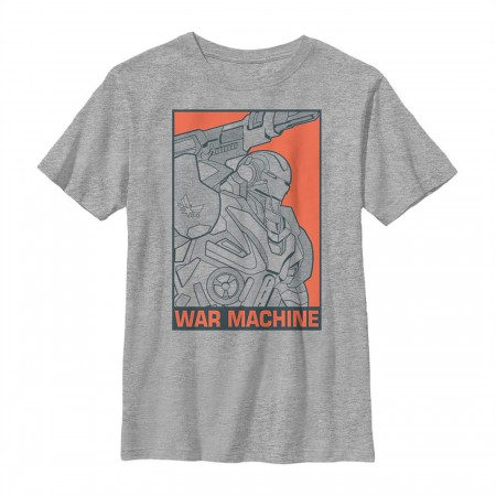 Avengers Endgame War Machine Color Pop Youth T-Shirt