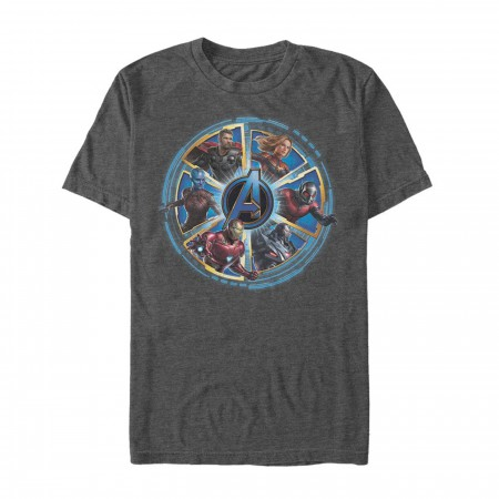 Avengers Endgame Circle Heroes Men's T-Shirt